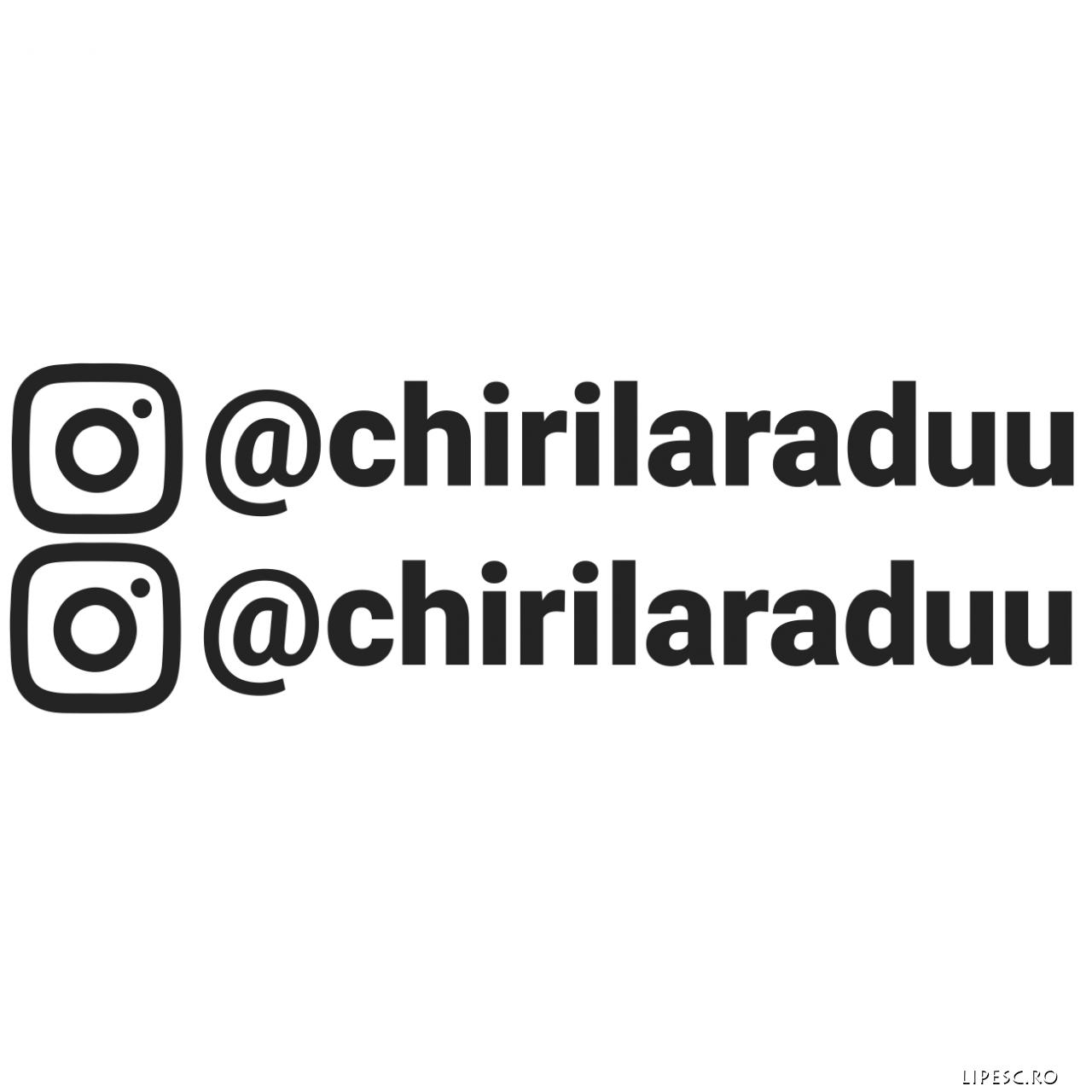 Set Stickere auto instagram personalizate