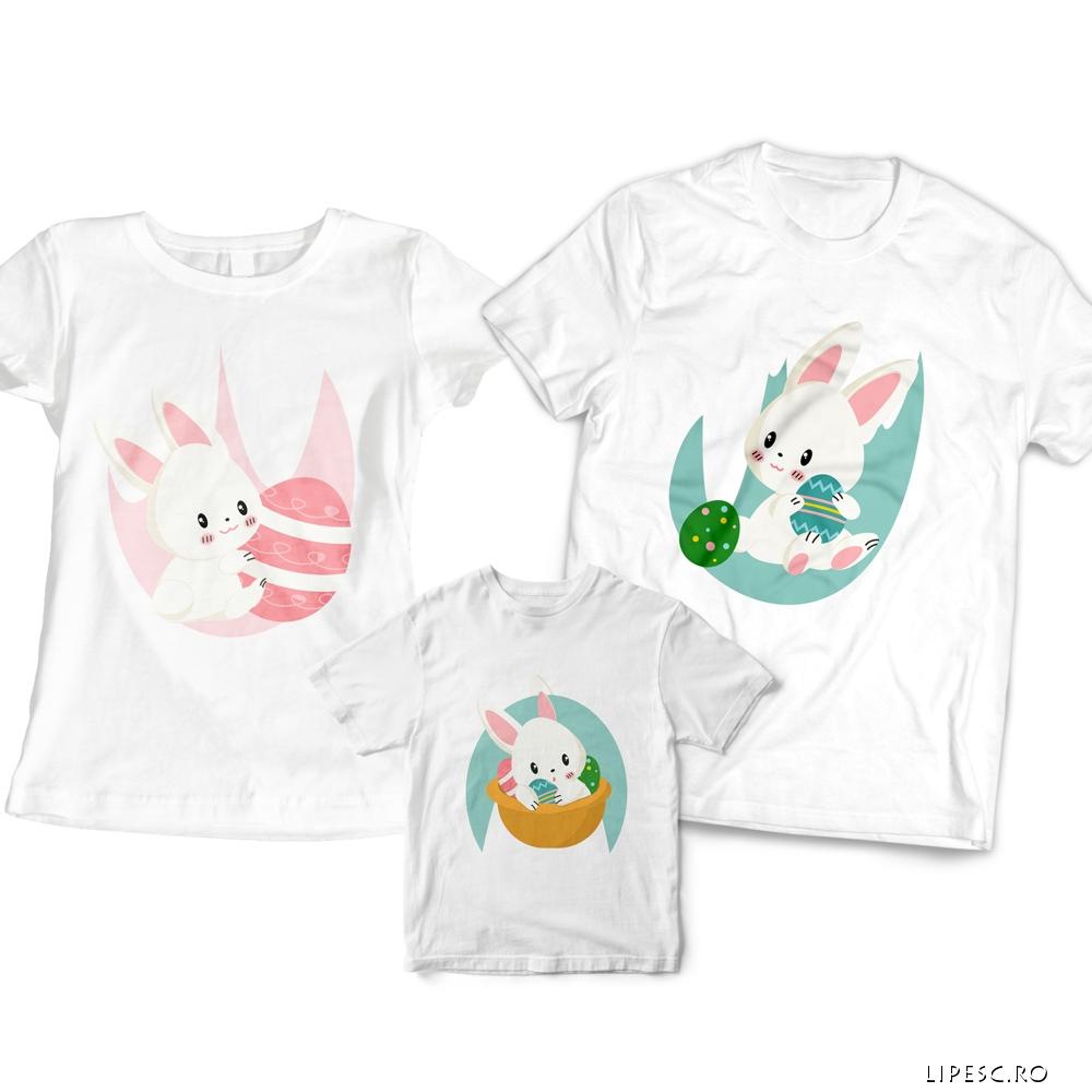 Set tricouri Familie pentru Paste