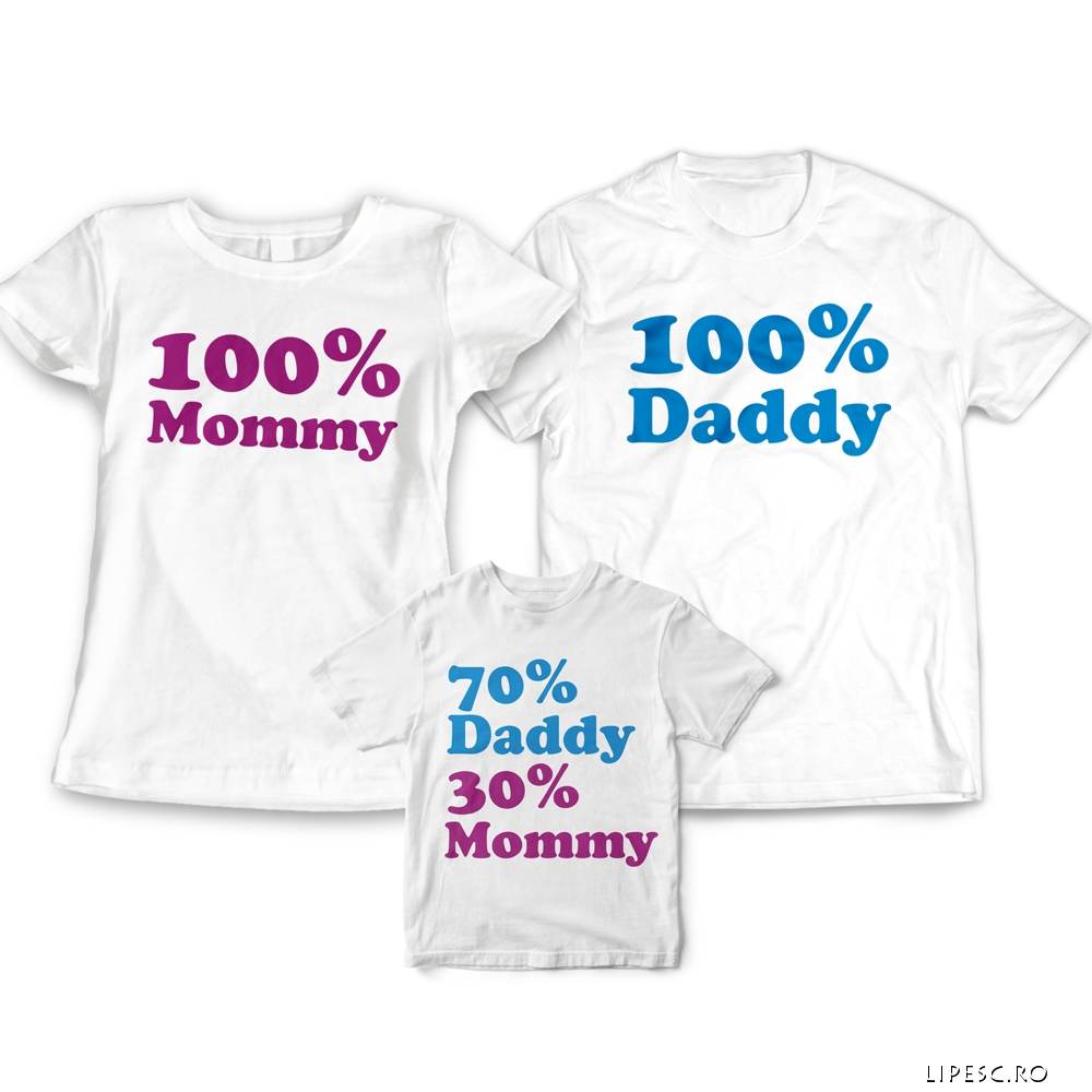 Set tricouri familie funny