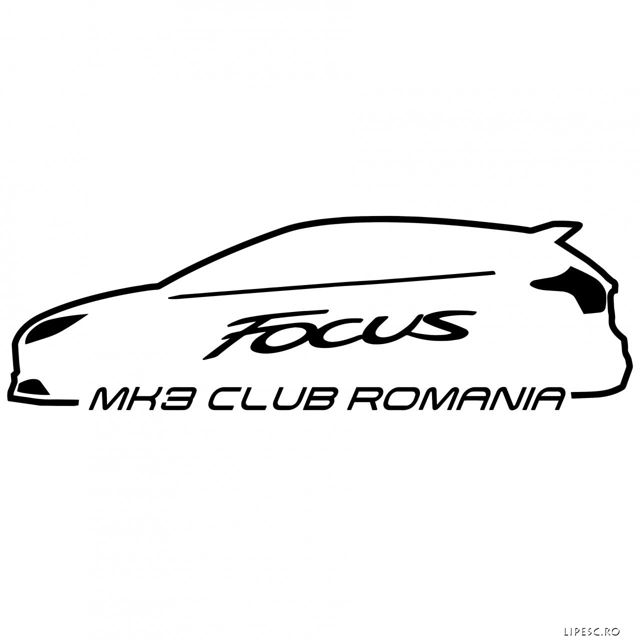 Sticker Focus Mk3 Club Romania