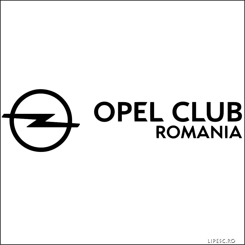 Sticker auto Opel Club Romania