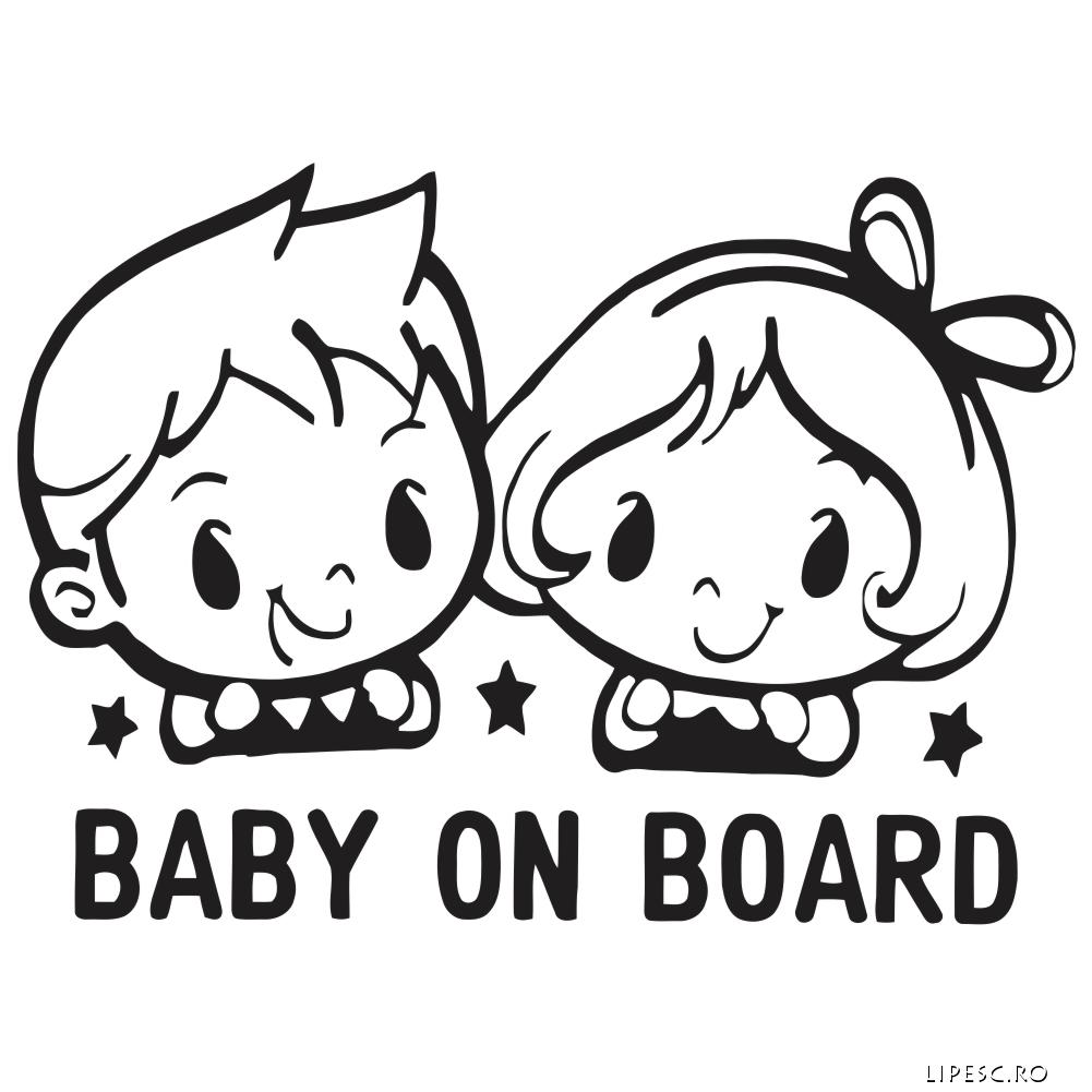 Stickere copii la bord