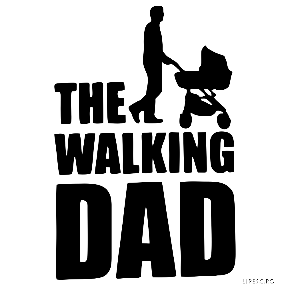 Sticker funny The Walking Dad