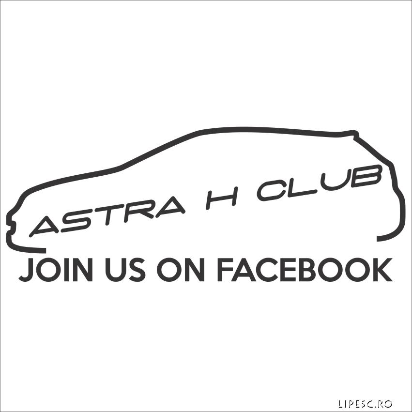 Sticker opel astra h
