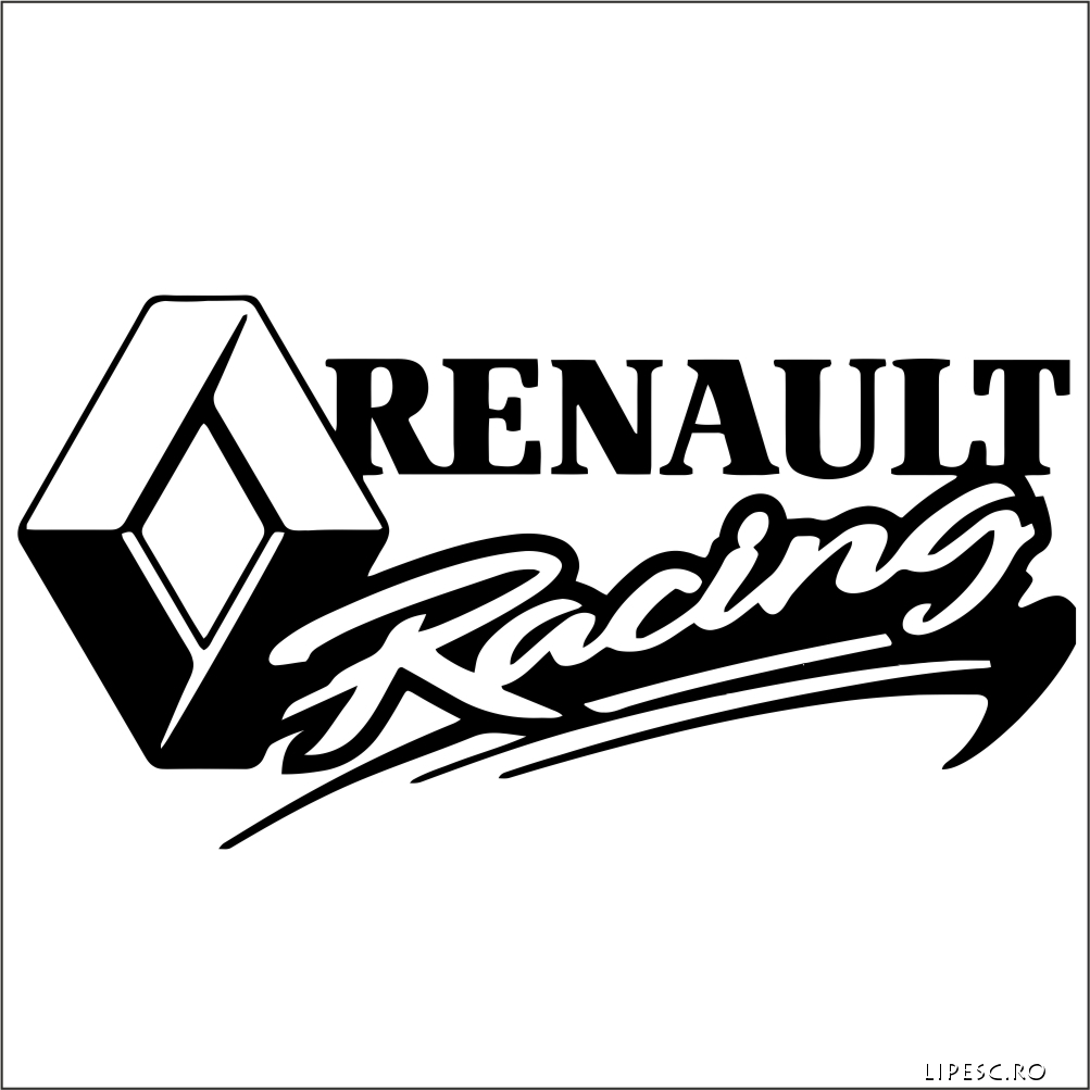 Sticker renault racing