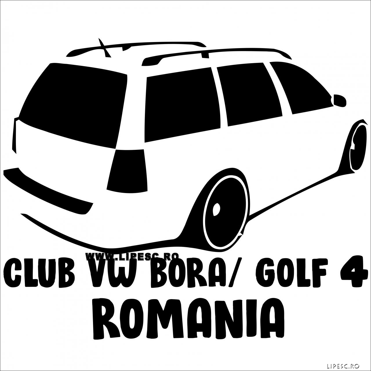 Sticker vw bora combi