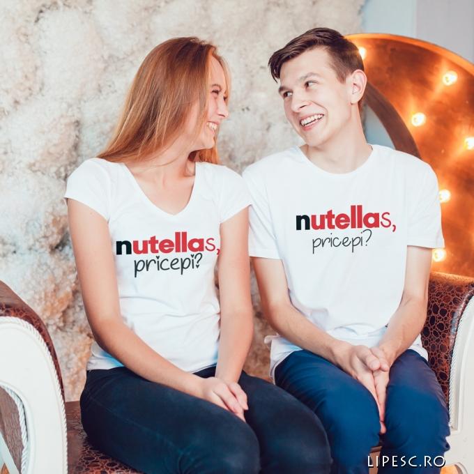Tricouri cuplu Nutella