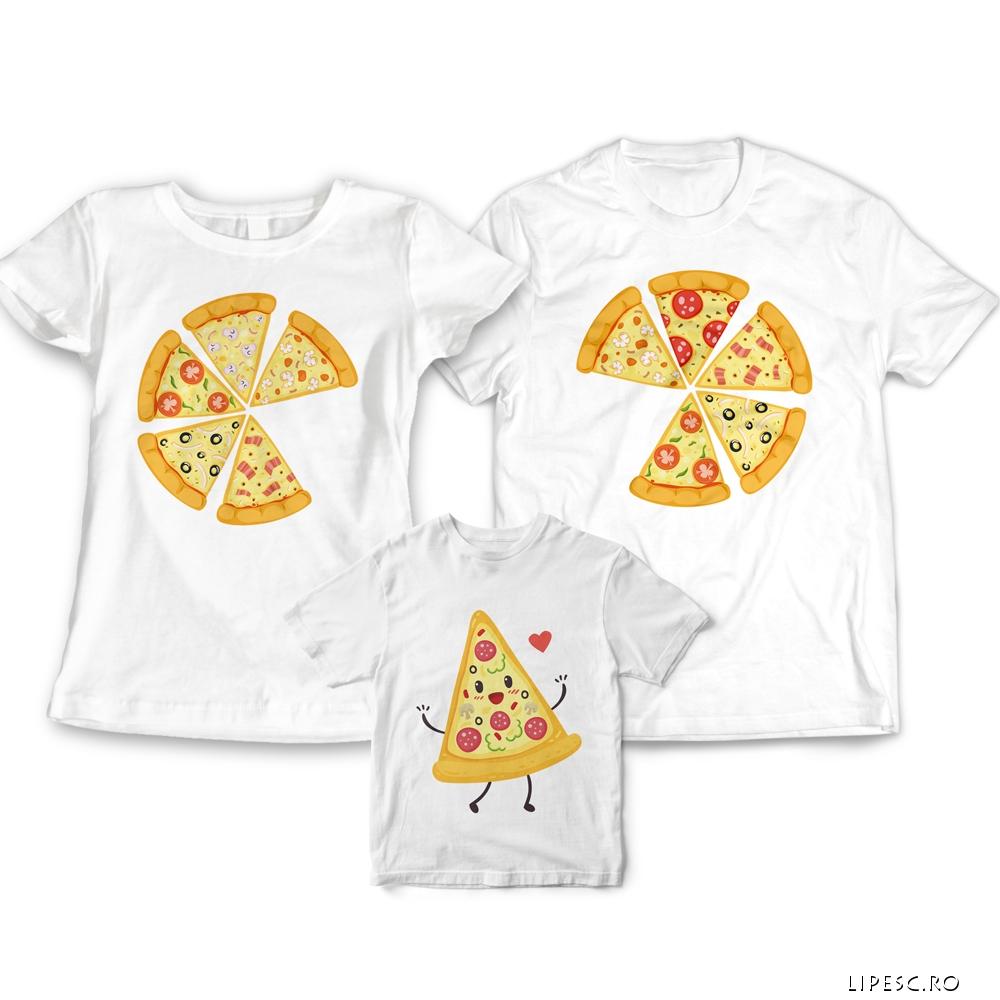 Tricouri familie pizza