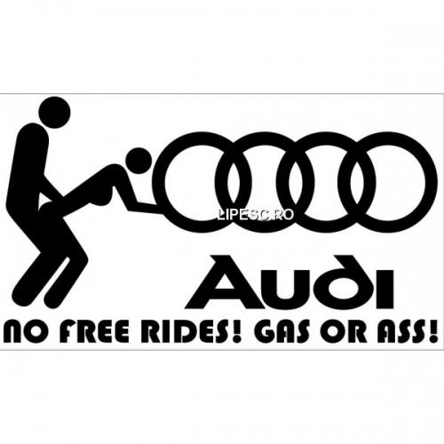 Sticker No free rides Audi