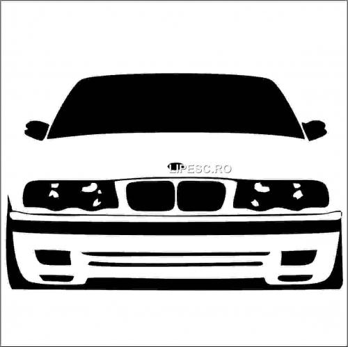 Sticker silueta bmw