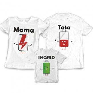 Set de tricouri pentru familie Low Battery