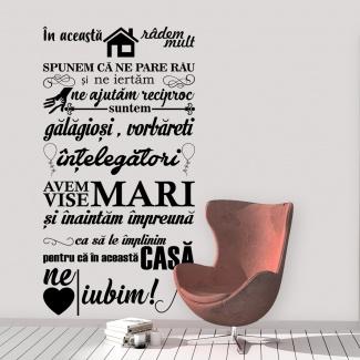 Sticker - In aceasta casa2
