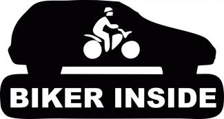 Sticker biker inside