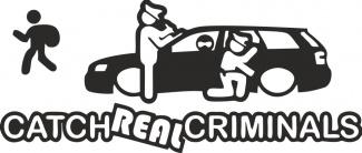 Sticker catch real criminals