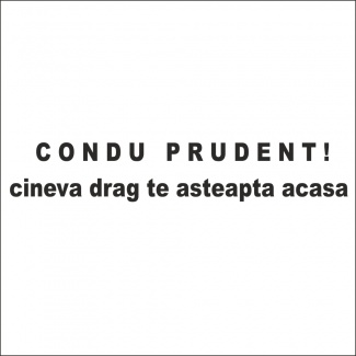 Sticker condu prudent