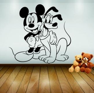 Sticker de perete Mickey si Pluto