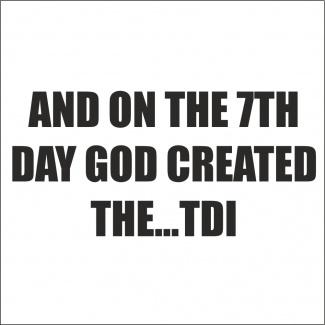 Sticker for TDI
