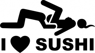 Sticker i love sushi