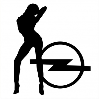 Sticker opel lady