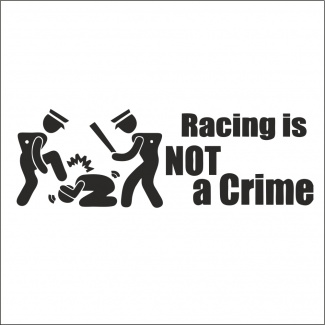 Sticker racing not a crime