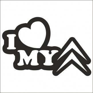 Sticker I LOVE CITROEN