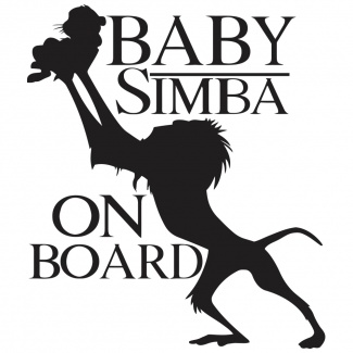 Sticker Simba On board