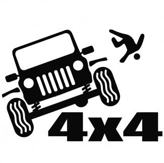 Sticker auto 4x4