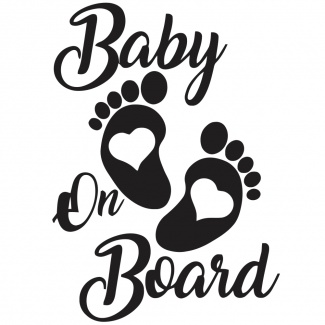 Sticker auto baby on board