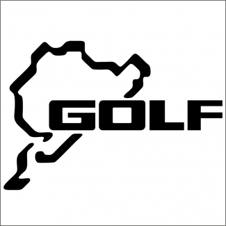 Sticker auto golf