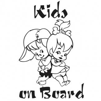 Sticker auto personalizat Kids on board