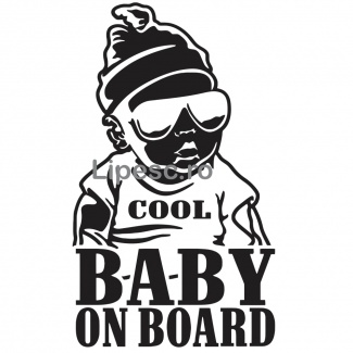 Sticker cool baby on board