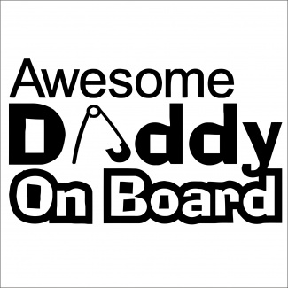 Sticker daddy on board