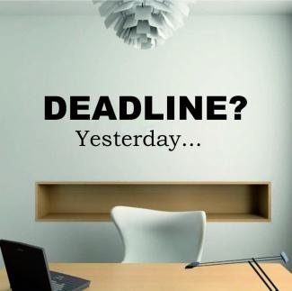 Sticker deadline