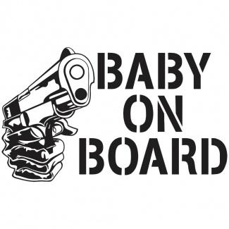 Stickere auto baby on board