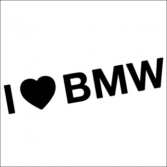Sticker i love bmw