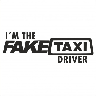 Sticker i m the fake taxi driver