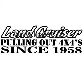 Sticker land cruiser offroad