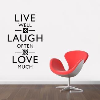 Sticker live-laugh-love