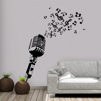 Sticker microfon vintage