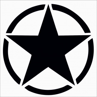Sticker stea pentru portiere