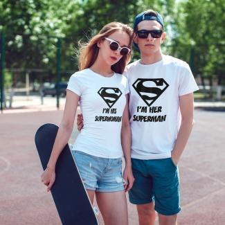 Tricouri pentru cupluri Superman