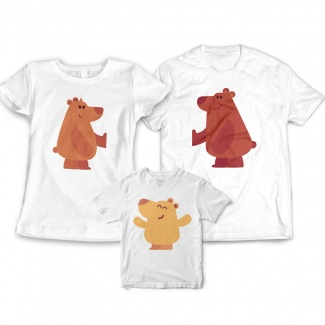 Tricouri familie cu ursuleti