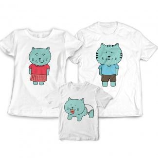 Tricouri familie cu pisicute