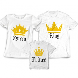 Tricouri familie King Queen Prince