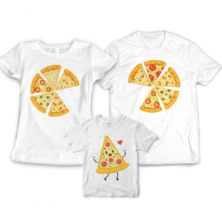 Tricouri familie pizza 1