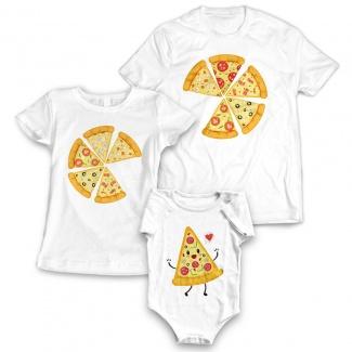 Tricouri familie pizza 2