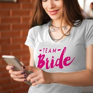 Tricouri personalizate team bride 2