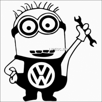 Sticker minion VW