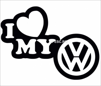 Sticker i love my VW
