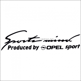 Sticker sport mind Opel